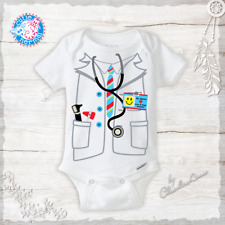 Doctor or Nurse Costume Onesie Funny Baby Boy Clothes Baby Shower Gifts Newborn