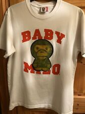 Bape Limited Edition Holographic White Baby Milo T-Shirt Medium