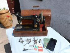 TIDY  VINTAGE   SINGER   SEWING  MACHINE.  WITH  ACCESSORIES. Y5134815.