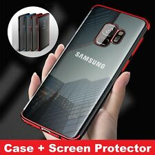 For Samsung Galaxy S9 S9+ Plus S8 S8+ Luxury Slim Shockproof Silicone Case Cover