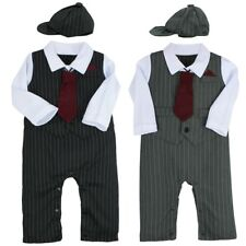 3PCS Baby Boy Gentleman Formal Outfits Toddler Tuxedo Wedding Romper Jumpsuit