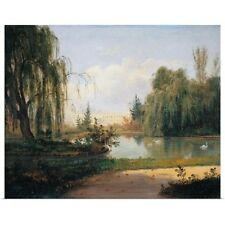 Poster Print Wall Art entitled Ducal Park Of Colorno With A View Of The Pond,