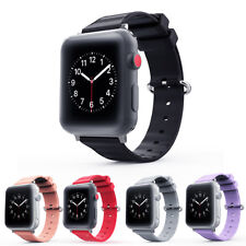 Silicone Replacement Strap Band For Apple Watch Series 1 2 3 iWatch 38/42mm