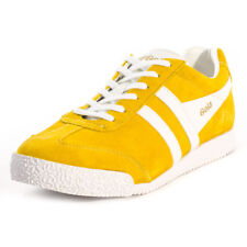Gola Harrier Womens Yellow White Suede Trainers