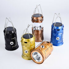 Solar Camping Lantern Hiking Portable Rechargeable Tent Lamp LED Hand Lamp Light