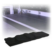 Showtec Black Portable Unpleated Stage Staging Deck Molten Skirt with Velcro