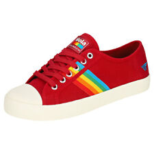 Gola Coaster Rainbow Womens Red Multicolour Canvas Trainers
