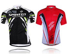 Cycling Shirt Mens Bike Jersey Breathable Cycle Clothing Reflective Biking Wear