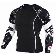 Mens compression top gym crossfit MMA Cycling muscle high quality Cross Road