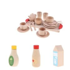 Wooden Tea Set Party Pretend Play Props Tool Kitchen Baby Developmental Game Toy