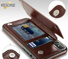 Leather Phone Case With Wallet Case For iPhoneX 6 6s 7 8Plus XS 5S SE Multi Card