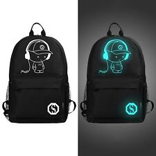 Luminous Fashion Backpack School Bag Travel Bags Student New Schoolbag Animation