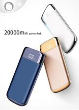 Power Bank Quick Lcd 20000mah External Battery Charge Dual Usb Portable Charger