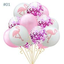 Flamingo Birthday Wedding Baby Shower Party Decoration Pearl Latex Balloon 15 Pc