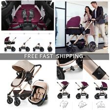 2018Baby Stroller 3 in 1 travel system Bassinet Combo Pushchair folding+Baby Car