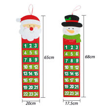 Christmas Countdown Advent Calendar Wall Hanging Ornament Xmas Party Decor Newly