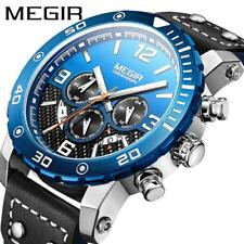 Megir Men Army Military Waterproof Quartz Leather Fashion Watch