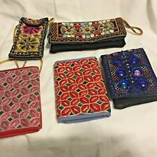 Handmade Indian/Pakistani Mirror Embroidery Ethnic Style Bi-Folding Wallet Clutc