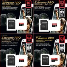 SanDisk Extreme Pro 16GB - 128GB Micro SD SDXC Class 10 UHS-I 95MB/S 4K SD Card