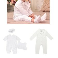 Infant Baby Boys Baptism Outfit Long Sleeve Romper Jumpsuit Christening Suit