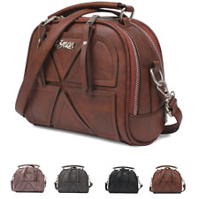Vintage Retro womens lady handbag Leather PU purse tote shoulder bag Messenger