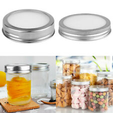 Stainless Steel Storage Solid Caps Detachable Silicone Sealing Lid for Mason Jar