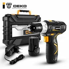 DEKO GCD12DU3 12V Max Electric Screwdriver Cordless Drill Mini Wireless Power Dr