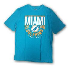 """Miami Dolphins NFL Men's Turquoise Short Sleeve T-shirt """"Miami Dolphins 1966"""""""