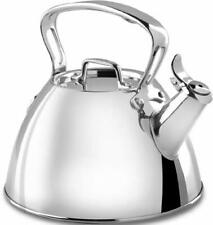 Home Office Kitchen Stainless Steel Specialty Cookware Tea Kettle 2-Quart Silver