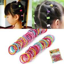 100pcs Lot Kids Girls Elastic Rope Hair Ties Ponytail Head Acce Holder S8O8 F0P6