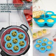 7 Hole Silicone Egg Bites Mold & Food Steamer Rack w/Lid Ice Freeze Tray Kitchen