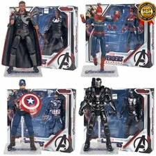 The Avengers 4 Captain America Iron Man with Bracket Box PVC Action Figure Toys