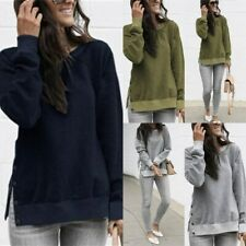 Long Sleeve Top Pullover Womens Blouse Shirt Crew Neck Ladies T-Shirt Casual
