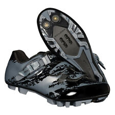 Breathable Mountain Bike Bicycle Shoes Cycling SPD Cleat Shoes Black Gray