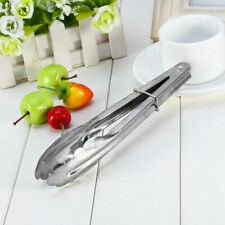 2 Pcs Stainless Steel Salad Tongs BBQ Kitchen Cooking Serving K9N9 Utensil A6H7