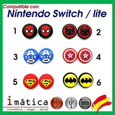 X2 Units Grips Joystick For Nintendo Switch/Lite Rubber Super Hero Marvel