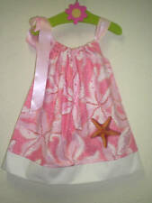 SWIRLY STARFISH PILLOWCASE DRESS 18M 24M 2T 3T 4T 5T 6Y