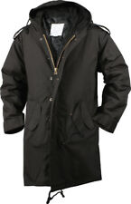 Black Military Cold Weather M-51 Fishtail Parka Jacket