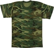 Woodland Camouflage Heavy Duty Premium Poly/Cotton Military T-Shirt