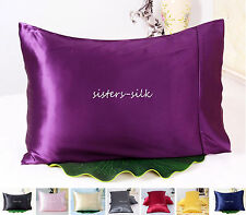 1 PC 30MM 100% PURE SILK PILLOWCASE SHAMS US TRADITIONAL STYLE ALL SIZE