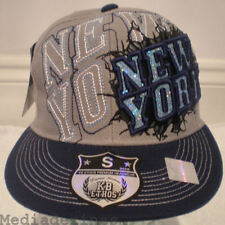 NEW BLING HIP HOP GREY FITTED FLAT BASEBALL HAT CAP