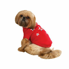 Zack & Zoey TWINKLING STAR Dog Sweater Sequined Acrylic Knit LED Lit Center Star
