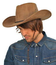 Cowboy style leather look hat (AK1)-Western