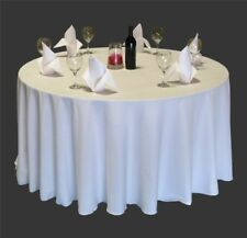 10 Round 108 Inch Polyester Tablecloths 25 Colors Table Cover Overlays Made USA
