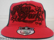 NEW ETHOS BLING HIP HOP RED  FITTED BASEBALL HATS CAPS