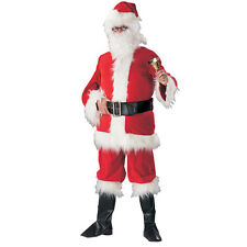 SANTA CLAUS FATHER CHRISTMAS ADULT NATIVITY TRADITIONAL FANCY DRESS 2 SIZES SALE