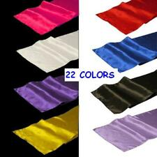"10 Pack of 12"" x 108"" Satin Table Runners - 22 Colors!"