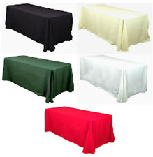 """10 Pack of 90"""" x 132"""" Polyester Tablecloths - 12 Colors"""