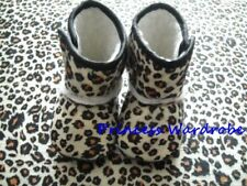 Brown leopard New Newborn Baby Infant Shoes Boots 6-24M