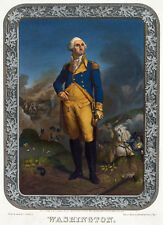 3438 Vintage Poster.Powerful Graphic Design.President George Washington. Decor